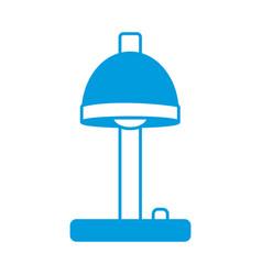 desk lamp bulb light button appliance electric vector image
