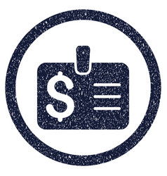 Dollar badge rounded grainy icon vector