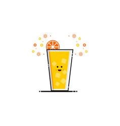 drink orange juice mbe style logo vector image