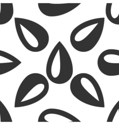 Drop icon seamless pattern on white background vector image vector image