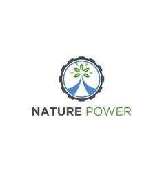 Electric eco green logo design vector