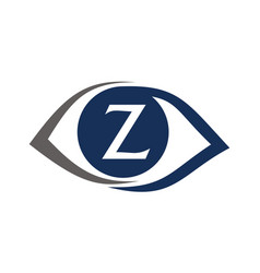 Eye care solutions letter z vector