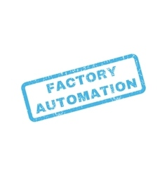 Factory Automation Rubber Stamp vector