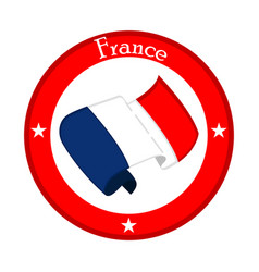 Flag of france on a label vector
