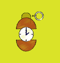 Flat shading style icon grenade time to explode vector