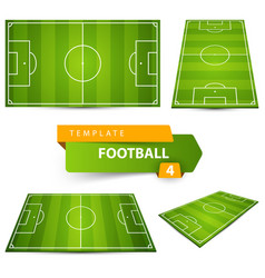 Football soccer court four items vector