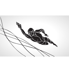 Freestyle Swimmer Silhouette Sport swimming vector