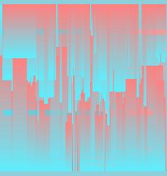 Glitch background futuristic city vector