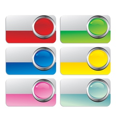 glossy cards vector image vector image