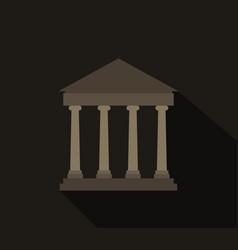 greek temple icon vector image