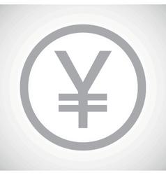 Grey yen sign icon vector image
