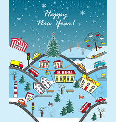 happy holidays seasonal greeting card vector image