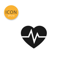 heartbeat icon isolated flat style vector image