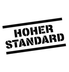 High standard stamp in german vector