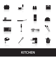 home kitchen icon eps10 vector image