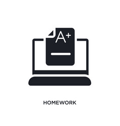 Homework isolated icon simple element from vector