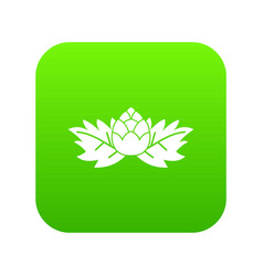 hops icon digital green vector image