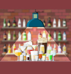 interior pub cafe or bar vector image