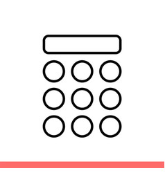Keypad icon for web or mobile app vector
