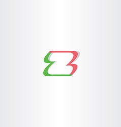 letter z green red logo element design vector image