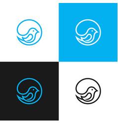 little bird logo design stock vector image