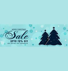 Merry christmas winter sale banner design vector