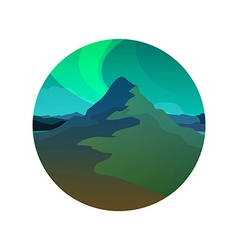 Northern Lights Round vector