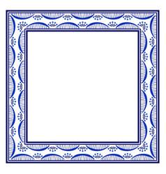 Ornate frame in boho style tribal beads hand vector