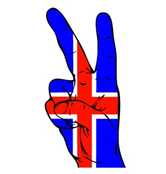 Peace Sign of the Icelandic flag vector image