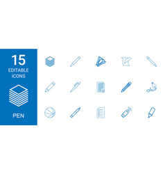 pen icons vector image