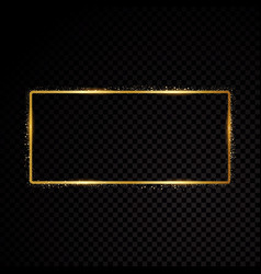 rectangle frame shining banner isolated vector image