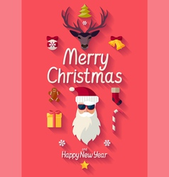 Red christmas poster vector
