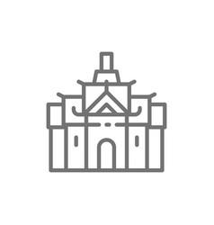 royal palace in thailand bangkok line icon vector image