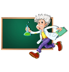 Scientist banner vector image