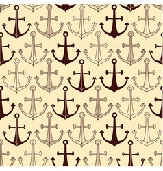 Seamless pattern made of anchors vector image