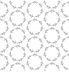 Seamless pattern with drawn circles branches vector