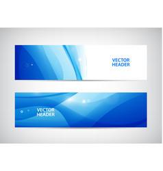set of abstract wavy horizontal headers vector image