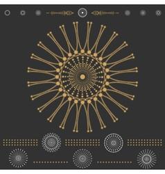 Set of geometric hipster shapes 6dBlack vector image