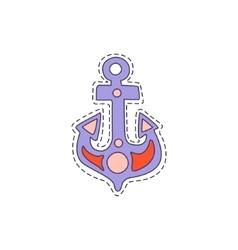 Ship anchor bright hipster sticker vector