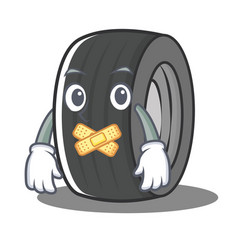 Silent tire character cartoon style vector