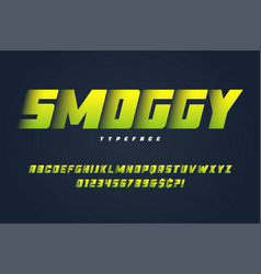 smoggy heavy display font design alphabet vector image