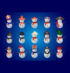 snow man icon vector image