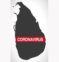 Sri lanka map with coronavirus warning vector