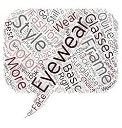 Stylish Eyewear Of Today text background wordcloud vector image