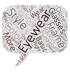 Stylish Eyewear Of Today text background wordcloud vector