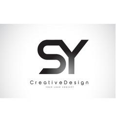 Sy s y letter logo design creative icon modern vector