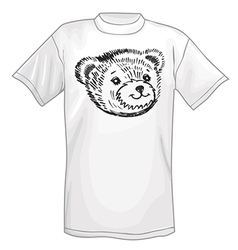 T-shirt bear smiling snout logo vector