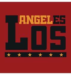 T shirt typography Los Angeles CA vector image