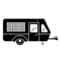 Transport motorhome icon simple style vector