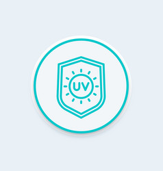 Uv protection line icon vector